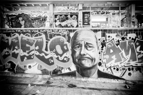 Graffiti de Jacques Chirac